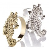Alloy hippocampus napkins ring