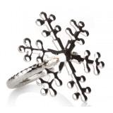 Alloy snowflake napkins ring