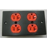 American Standard aluminum panel 4-port Power Wall Plate