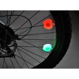 Apple bicycle wheel warning lights