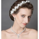 Artificial gemstone bridal accessories set