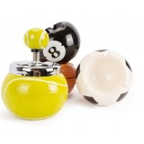 Ball style ceramic ashtray