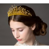 Beads crown bridal headwear