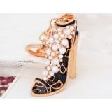 Beautiful pearl high heels keychain