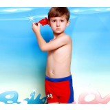 Bicolor Cartoons little boy swimming trunks