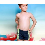 Bicolor little boy swim trunks