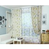 Big dots minimalist linen curtains