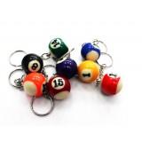 Billiard ball keychain
