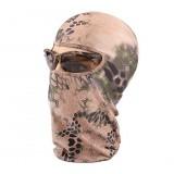 Bionic camouflage snake print mask