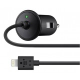 Black 2.1A Car Charger +8 pin charging cable