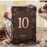 Black lace seating card