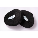 Black lashing strap with safety buckle