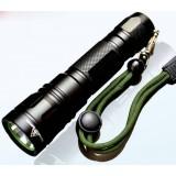 Black Mini Rechargeable LED Flashlight 18650