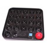 Black plastic billiards balls storage tray