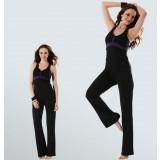 Black + Purple summer dancing yoga clothes suit
