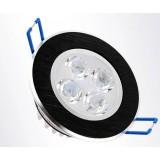 Black rotatable 3-7W LED ceiling lights