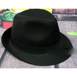 Black Spring and Autumn casual jazz hat