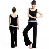 Black summer yoga clothing