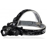 Black Zoom Rechargeable 5W CREE LED Headlamp