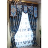 Blue enchantress embroidered curtains