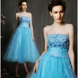 Blue Strapless bridesmaid dresses