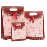 Bow clamshell gift bag