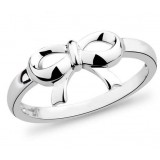 Bow Sterling silver I love you women's ring