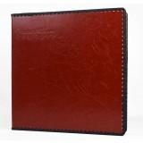 Brown leather adhesive-type photo album