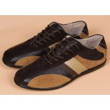 Brown soft leather martial arts shoes