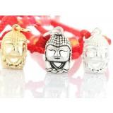 Buddha titanium silver pendant