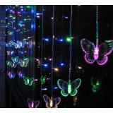 Butterfly curtains 104 LED holiday lights