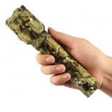 Camouflage hunting rechargeable LED flashlight