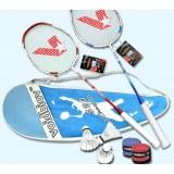 Carbon fiber badminton rackets