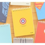 Cartoon-style coil binding notebook