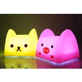 Cartoon animals baby night light