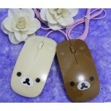 Cartoon Bear wired USB mouse