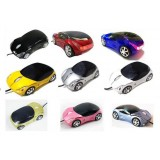 Cartoon car wired mouse