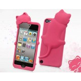 Cartoon cat silicone case for iPod touch 4 5