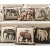 Cartoon elephant pillow cover