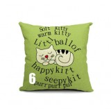 Cartoon linen pillow cover