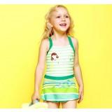 Cartoon one-piece swimwear for little girls