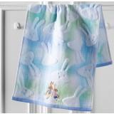 Cartoon rabbit embroidery cotton towel