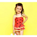 Cartoon red one-piece swimwear