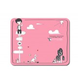 Cartoon rural landscape mouse pad