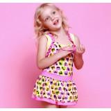 Cartoon skirt type children one-piece swimwear