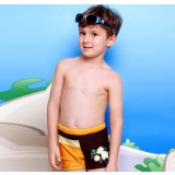 Cartoons little boy swim trunks