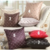 case grain embroidered flannel pillow cover
