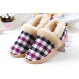 Case grain hight cut plush slippers