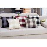Case grain thick linen throw pillow
