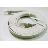Cat.6 Gigabit network cable / 15 m flat UTP network cable